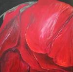 2010 50 x 50 Rød rose - akryl