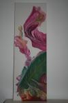 2010 90 x 30 Papegøjetulipan m. hvid baggrund - akryl