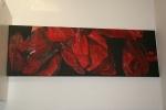 2011 40 x 120 Visne tulipanblade under bearbejdning - akryl