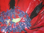 2012 60 x 80 Rød fransk anemone - akryl TASKE