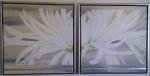 2-delt 50 x 50 Sølv m. sølv ramme - akryl