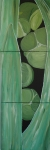 2013 3 delt 40 x 40 Grøn plante fra Tivoli Akryl.JPG