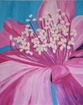 2013 92 x 73 Pink blomst med støvdrager Akryl.JPG