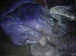 2008 60 x 80 Lilla iris m. sølv ramme - akryl SOLGT