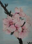 08.04.08 30 x 24 Kirsebærblomster 3 af 3 - akryl SOLGT