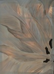 2011 80 x 60 Beige tulipan 1 af 2 Venstre m. sølv ramme - akryl