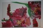 2009 - 2010 100 x 150 Papegøjetulipaner  under bearbejdning - akryl
