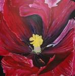 120911 100 x 100 Papegøje tulipan Blue Parrot - akryl