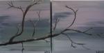 2-delt 20 x 20 Frost - akryl