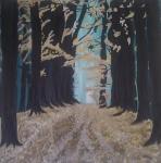 100 x 100 Efterår i skoven - akryl