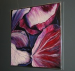 Visne røde rosenblade. Udstilling hos ASE 2010. 100 x 100.